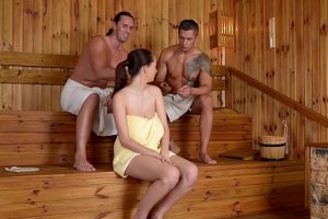 Videos free Fuckinhd - lucie wilde hot fuck with 2 guys in the sauna